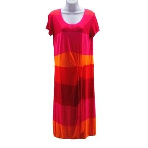 BCBG Maxazria Noah Shirt Dress Berry LG NWT
